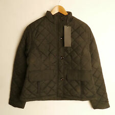 BRAVESOUL BLACK FUNNEL NECK QUILTED JACKET COAT SIZE 18- 20 New £17.99