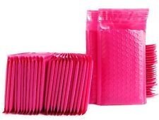 TriStore 4x8 Poly Bubble Mailer Pink Self Seal Padded Envelopes 100 pcs