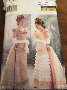 Butterick Making History Jane Austen Gown Pattern 3012 Sz 6-8-10 Uncut FF