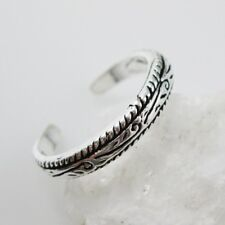 925 Sterling Silver Toe Ring - Artisan Ring - Adjustable Toe Ring