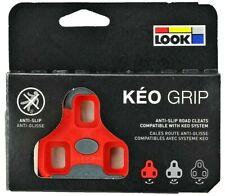 Red Look Keo Grip Cleats - 9 Degree Float - Road Bike - Genuine