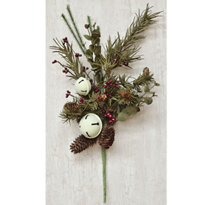 "Country Bell Pine 16"" Faux Evergreen Spray"