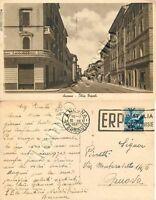 Cartolina di Ancona, corso Tripoli - 1950