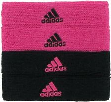 Adidas Interval 3/4-inch Bicep Bands Black & Pink One Size Fits Football Soccer