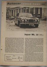1962 Jaguar Mk.10 Original Autocar magazine Road test