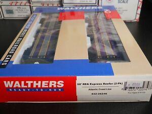 Walthers #932-26246 HO Scale 50' REA Express Reefer (2-Pk) ATLANTIC COAST LINE
