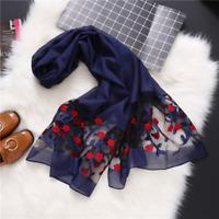 Brand luxury silk scarf 2018 New Designer women brand colorful shawl scarf