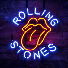 "18""x14""ROLLING STONES Neon Sign Light Room Wall Poster Beer Bar Pub Party Decor"