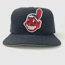Vintage NEW ERA Cleveland Indians Hat MLB Pro Model Snapback Hat Cap M/L Wahoo