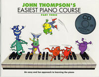 John Thompson's Easiest Piano Course: Part Three (Book And CD) Piano Sheet Music