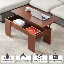 Modern Lift Top Coffee Table w/ Hidden Compartment Storage Living Room Furniture