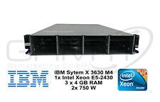 Server IBM System X 3630 M4 1x Intel Xeon E5-2430 12 GB RAM 2 x 750W Netzteil