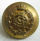 British WWI ADC Army Dental Corps 26mm Gilt Brass Tunic Button Nice Condition