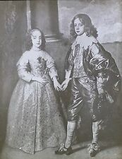 William II of Orange & Mary Stuart, Anthony van Dyck, Magic Lantern Glass Slide