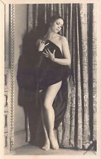Studio Real Photo Postcard Risqué Woman Covering Herself with a Sheet~127495
