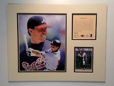 Atlanta Braves Chipper Jones 1997 MLB Baseball 11x14 MATTED Lithograph Print