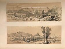 Burgos Vitoria . George Vivian, litografia original.Londres 1838