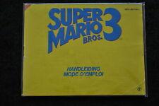 Super Mario Bros 3 Nintendo NES Manual