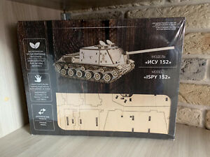 Wood Toy Model tank ISU-152 Mechanical Wooden 3D Puzzle Self Assembly DIY Kit