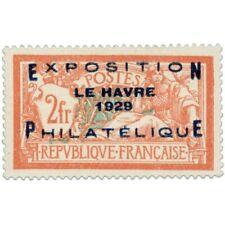 FRANCE N°257A, EXPOSITION DU HAVRE, BEAU TIMBRE NEUF ET SIGNÉ-1929