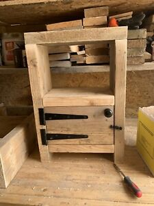 Chunky Rustic Bedside Table / Lamp Stand Solid Wood.