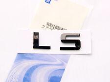 1x OEM Black LS Nameplate Emblem Badge for Chevrolet GMC SILVERADO Shiny CbU F1