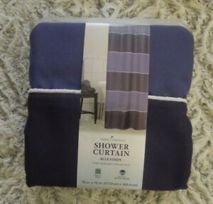 Threshold Fieldcrest Home Classics Colored Stripped Trellis Shower Curtains-NEW