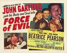 FORCE OF EVIL Movie POSTER 22x28 Half Sheet John Garfield Thomas Gomez Marie