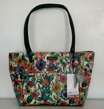 NEW! SAKROOTS ARTIST CIRCLE OPTIC IN BLOOM PRINT MEDIUM SHOPPER TOTE BAG PURSE