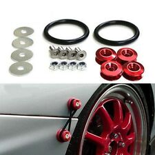 UNIVERSAL RED  ALUMINUM QUICK RELEASE FASTENERS KIT FOR BUMPER & TRUNK HATCH New