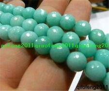 "Perfect AAA+++ 8mm Faceted Brazilian Aquamarine Gemstones Loose Beads 15""##QF063"