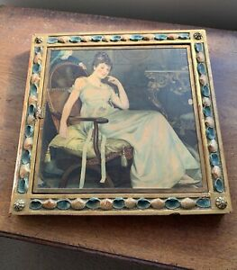 Antique French Aesthetic Movement Tri-Fold Tryptych Wall Mirror 1876 Paris