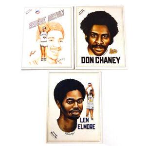 (3) 1975-76 Indiana Pacers ABA Programs ~ Lewis ~ Len Elmore George Gervin