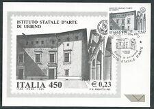 1999 ITALIA CARTOLINA MAXIMUM ISTITUTO D'ARTE URBINO ANNULLO FDC - ED