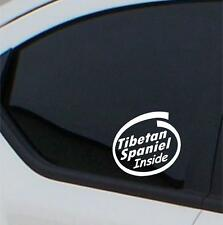 2x  Tibetan Spaniel Inside stickers car decal