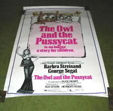 Original 1973 The Owl & Pussycat Movie Poster 40 X 60 Barbara Streisand