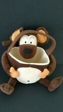 "Plush Sitting Brown Monkey with Tail Hand Bag. Tote 9""T X 15""W by PTI Group"