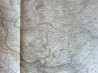 Saudi Arabia Turkey Persia Afghanistan Middle East c.1831 Lapie large old map