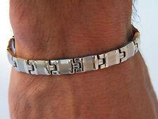 Pulsera De Acero Inoxidable para Hombre Clásico Cadena De Eslabones Joyería Bracelet
