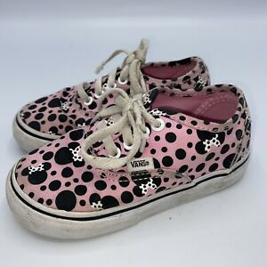 Minnie Mouse toddler Size 7 Vans Shoes Pink black