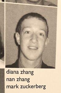 Mark Zuckerberg High School Yearbook | 2001 PHILLIPS EXETER ACADEMY