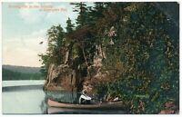 Among The 30,000 Islands Georgian Bay Ontario ON Red Granite Cliff Postcard 1907