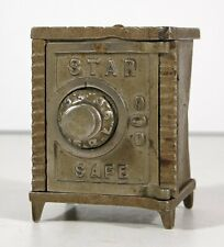 ca1900 CAST IRON STATE SAFE COMBINATION FLOOR SAFE FIGURAL STILL BANK By KENTON