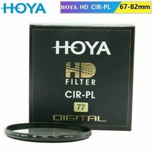 Hoya HD CPL CIR-PL 67mm-82mm Circular Polarizing Filter Coating for Camera lens