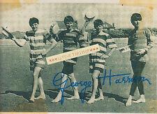 Beatles Foto - Die Gruppe mit Autogramm George Harrison