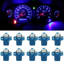 10pcs T5 B8.3D 5050 1SMD Car LED Dashboard Dash Gauge Instrument Light Bulb Blue