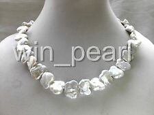 real nature white butterfly reborn keshi baroque pearl necklace 12*15mm