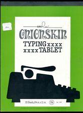 Onionskin Typing Tablet 55 sheet 8.5 x 11 Liveline pad typewriter paper No 1139