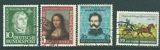 WEST GERMANY 1950's used single commemorative issues