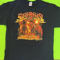 Sturgis Bike Rally 2014 Black T Shirt Size XL 74th Annual - Graphic Tee